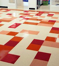 VCT Vinyl Tile Floor Stripping Waxing